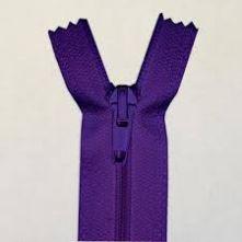 Purple Nylon Open Ended Zip